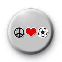 Peace Love Football Badges