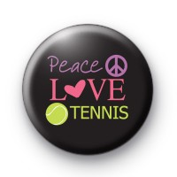Peace Love Tennis Pin Badge