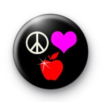Peace Love Twilight Button Badges