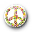 Say Peace with FLOWERS badges