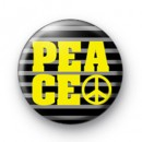 Peace Yellow Symbol badge