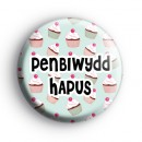 Penblwydd Hapus Welsh Happy Birthday Badge
