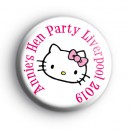 Custom Hello Kitty Hen Party Badges