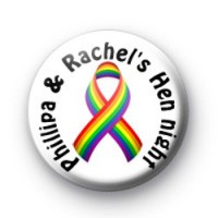Rainbow Hen Night Badges