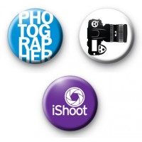 Set of 3 Photographer Button Badges