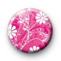Pink Flower Power badges