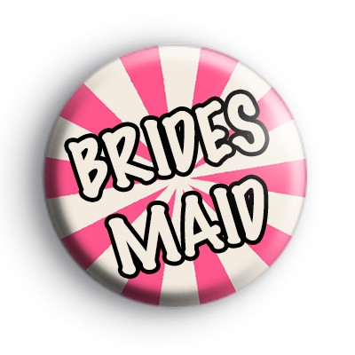 Pink and Cream Bridesmaid Wedding Badge