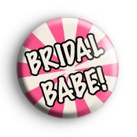 Pink and Cream Bridal Babe Badge