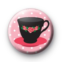Pink Cup and Saucer Badge
