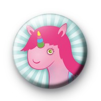 Cute Pink Unicorn Button Badges