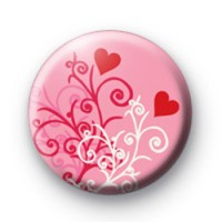 Pink 2 Hearts Badges