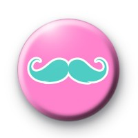 Pink and Blue Moustache Badges
