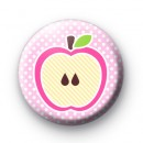 Pink Apple Button Badges