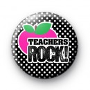 Pink and Black Teachers ROCK badges