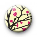 Pink Flower Blossom Badge