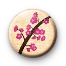 Pink Kawaii Cherry Blossom Badges