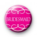 Pink Bridesmaid Swirl Badges
