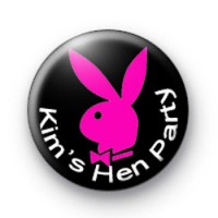 Pink Bunny Hen Party Badge
