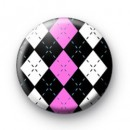 Diamond Pattern Pink badges