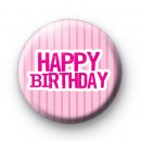 Pink Happy Birthday Badge
