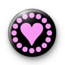 Pink Heart badges