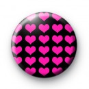 Pink Hearts Galore Button Badges