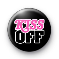 Kiss Off Anti Valentines Day Badges
