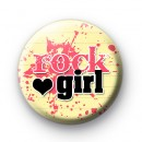 Pink Love Rock Girl Button Badges