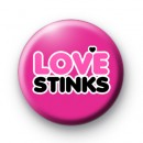 Pink and Black Love Stinks Badges