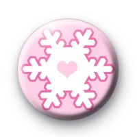 Pink on Pink Snowflake Badges