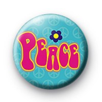 Pink retro peace badge