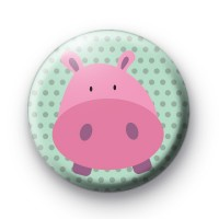 Pink Porky Pig Button Badge