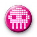 Pink Pixel Skull Button Badge