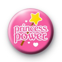 Pink Princess Power Button Badge thumbnail