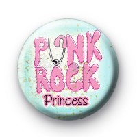 Pink Punk Rock Princess Button Badge thumbnail