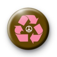 Pink Recycle Peace Badges