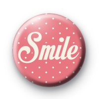 Pink Smile Pin Badge