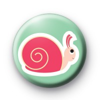 Pink Snail Button Badge