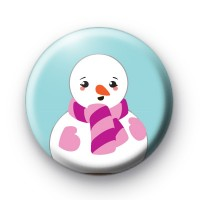Snowman Pink Gloves & Scarf badges