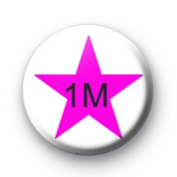 Pink Star 1M Custom badge