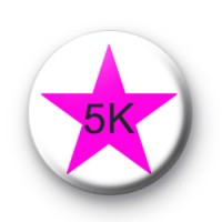 Pink Star 5k Custom badge
