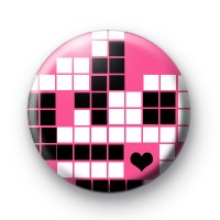 Pink Tetris button badges