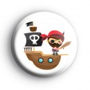 Pirate Captain Button Badge
