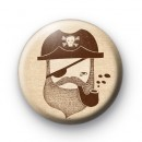 Cool Pirate Captain Button Badge