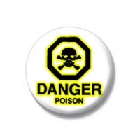 Danger - poison badges