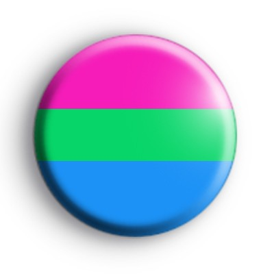 Polysexuality Pride Flag Badge