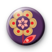 Pop Flower Purple Badge