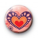 Pop Love Heart Badge