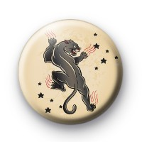 Old School Black Panther Tattoo Button Badges