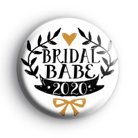 Pretty Black and Gold Bridal Babe 2020 Badge
